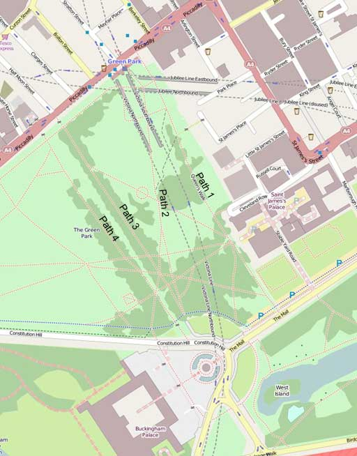 Map of Green Park