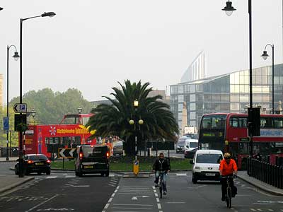 Lambeth Bridge roundabout