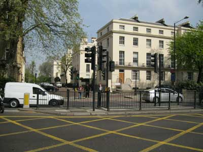 Pedestrian crossing of Marylebone Road