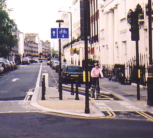 Photo of Ebury Street at junction with Lower Belgrave Street