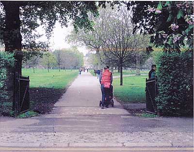 The Marylebone Green path today